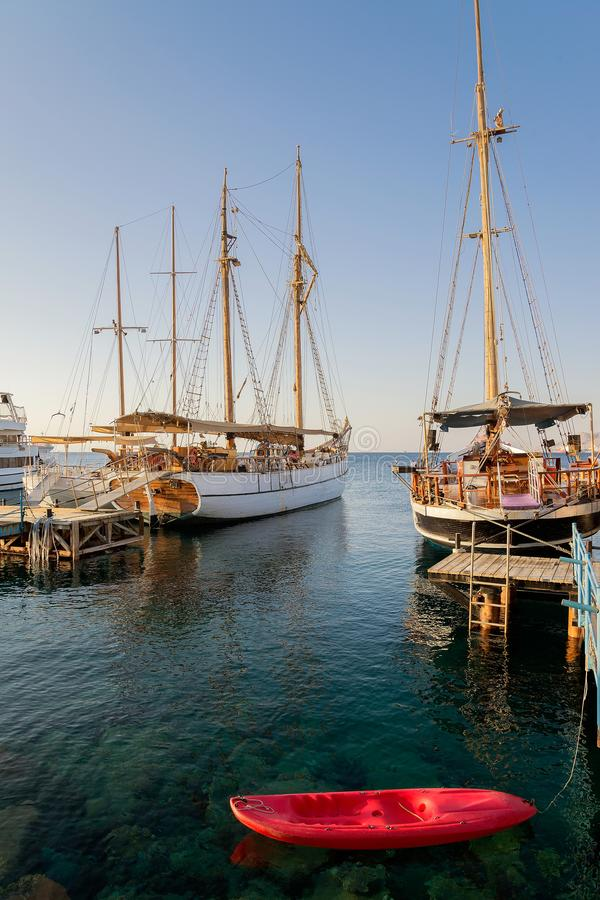 Eilat, The Red sea, fishing royalty free stock image