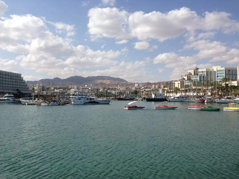 Eilat's port stock photos