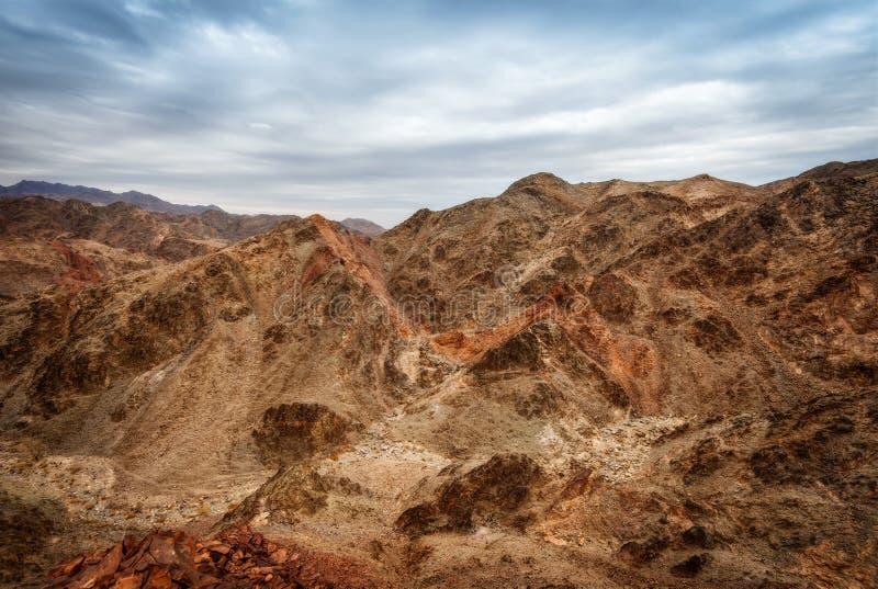 Eilatbergen stock afbeelding