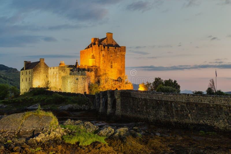 eilean замока donan шотландско стоковая фотография rf