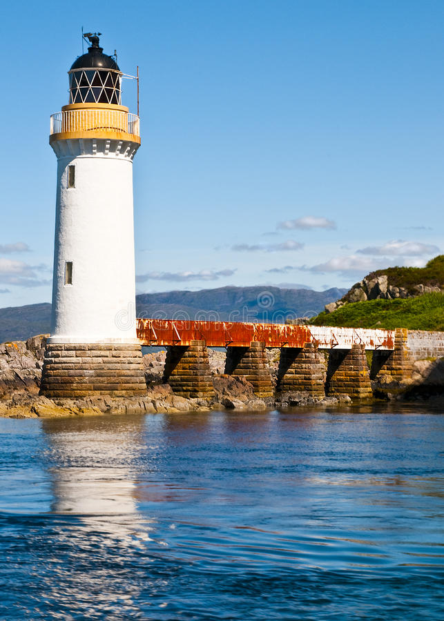 Eilean Bhan Lighthouse. Kyle of Lochalsh, Scotland, UK stock image
