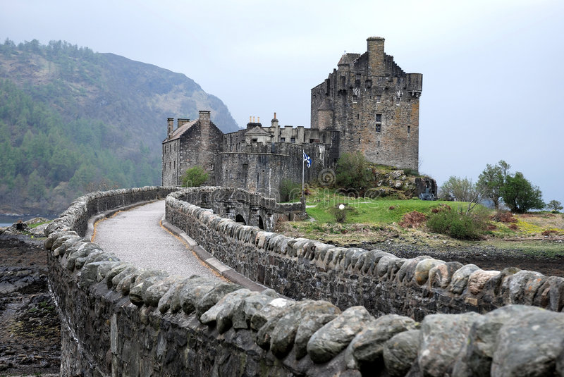 Eilean Donan Castle. Castle on the banks of loch duich, highlands, scotland royalty free stock images