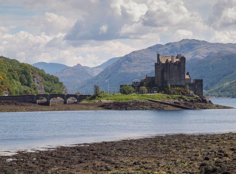 Eilean Donan Castle, altopiani scozzesi fotografie stock