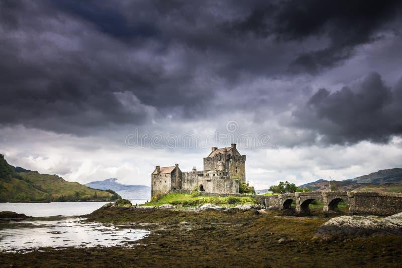 Eilean Donan Castle in den Hochländern von Schottland stockfoto