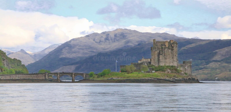 Eilean Donan Castle, Dorney, Escócia foto de stock