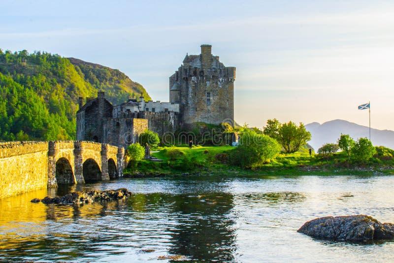Eilean Donan Castle, Eiland van Skye, Schotland stock afbeeldingen