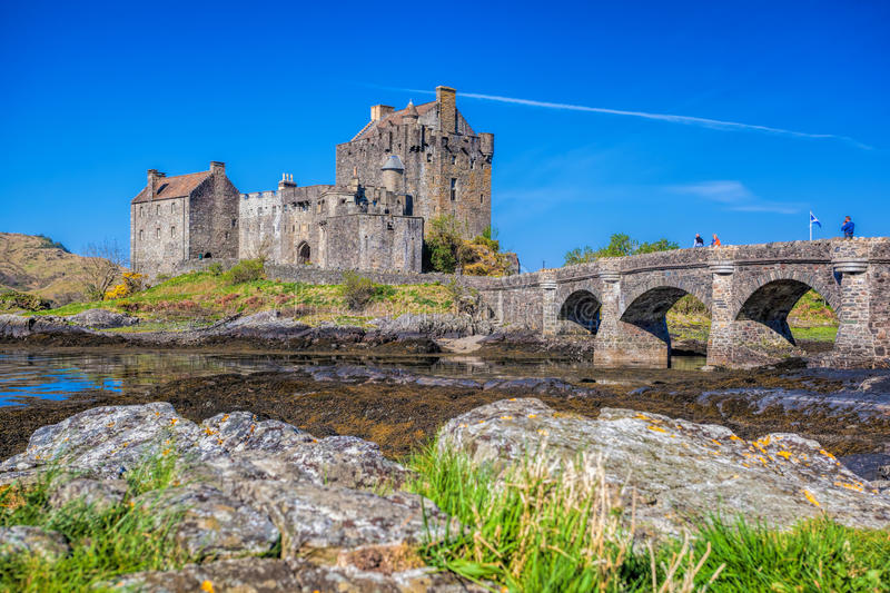 Eilean Donan Castle in Highlands of Scotland stock photography