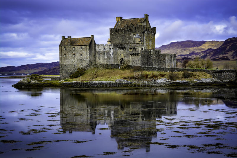 Eilean Donan Castle. Is a majestic, yet small, structure set in a picturesque landscape on the tiny island of Eilean Donan near the small village of Dornie, en