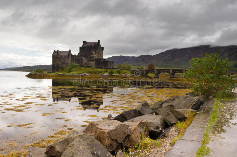 Eilean Donan Castle with reflection stock image