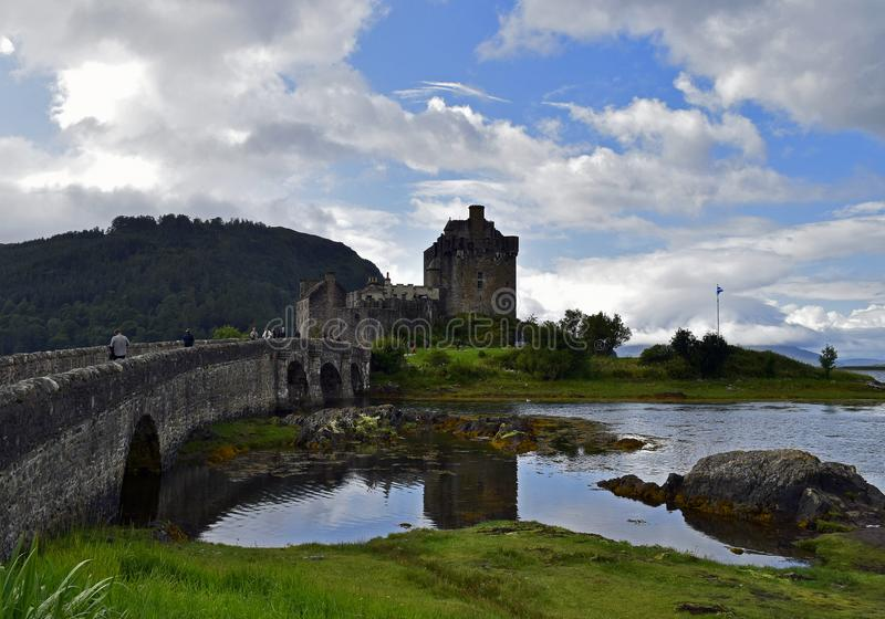 Eilean Donan Castle a 13th century fortress royalty free stock photo