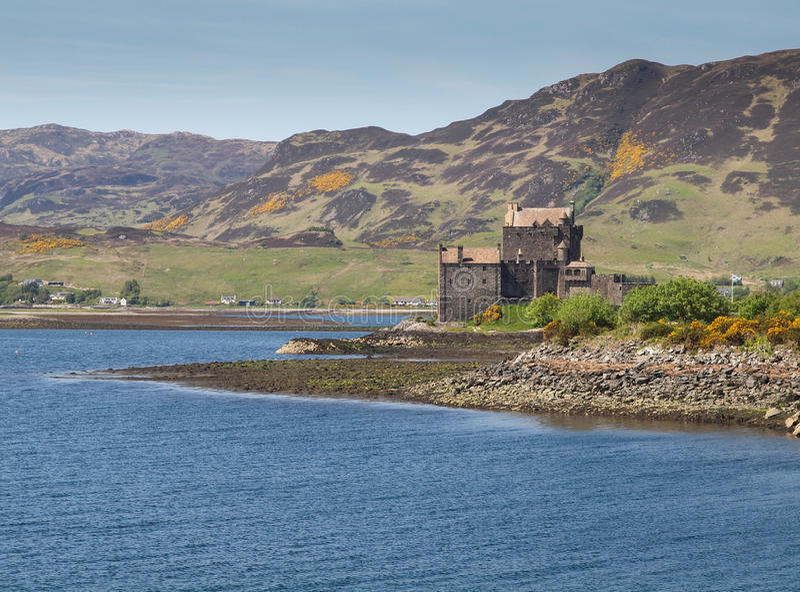 Eilean Donan kasztel, Szkocja fotografia royalty free