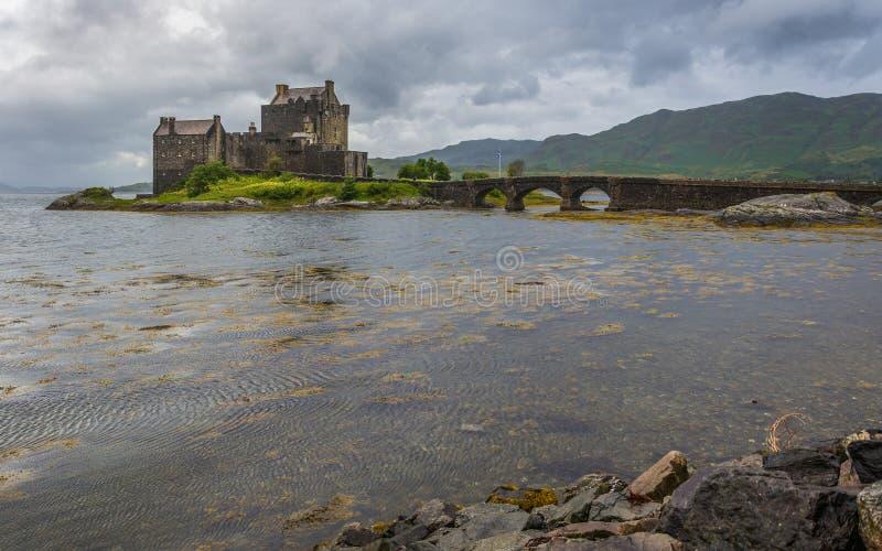 Eilean donan Schloss in Schottland stockbilder