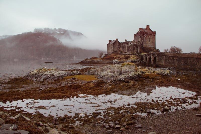 Eilean Dornan城堡 免版税库存图片