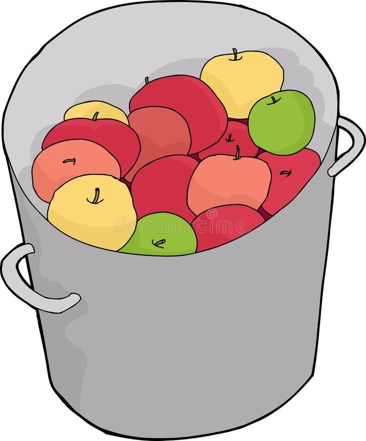 Eimer Äpfel lizenzfreie abbildung