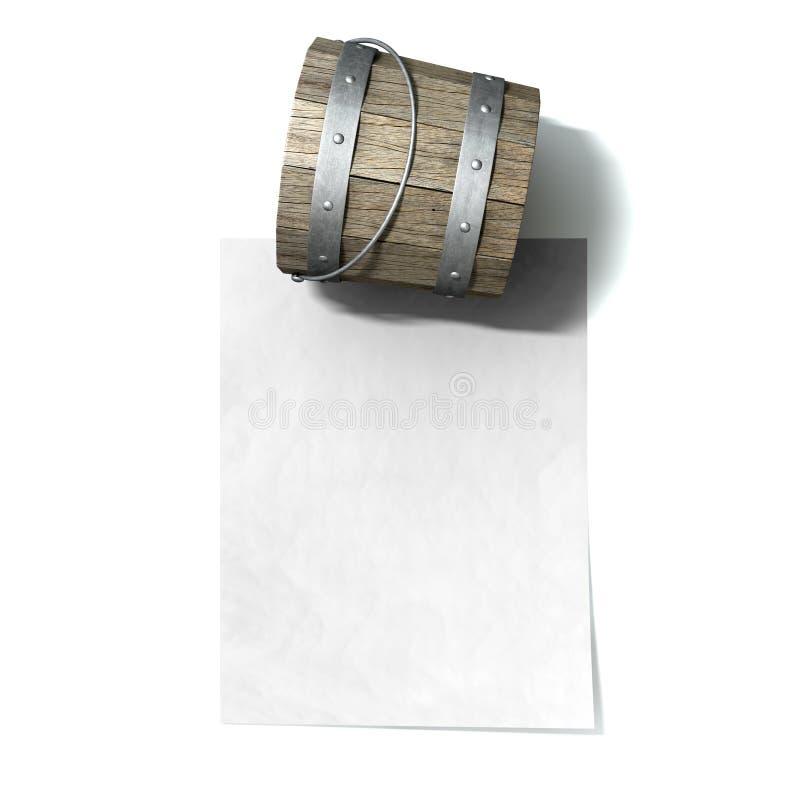 Eimer-Liste lizenzfreies stockbild