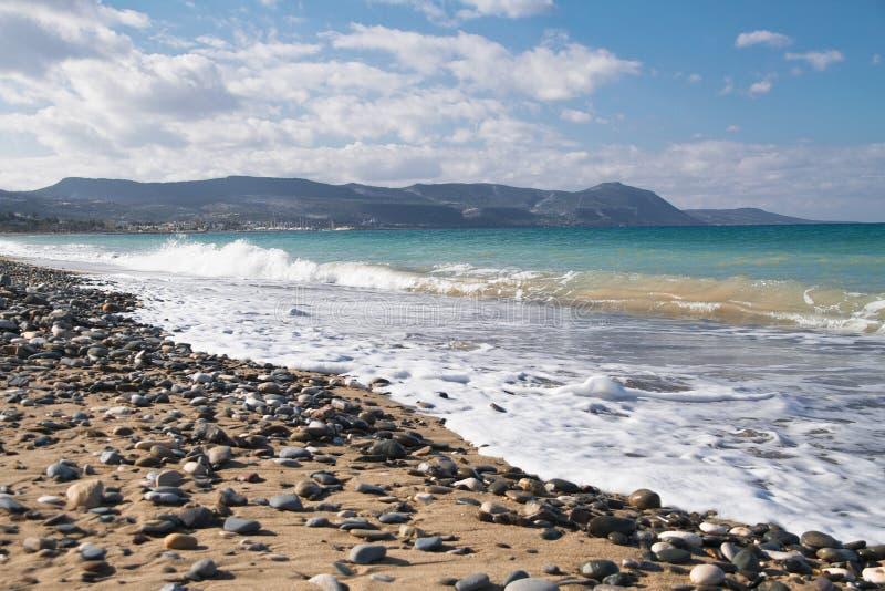 Ein Überblick von Polis-Strand lizenzfreie stockfotografie