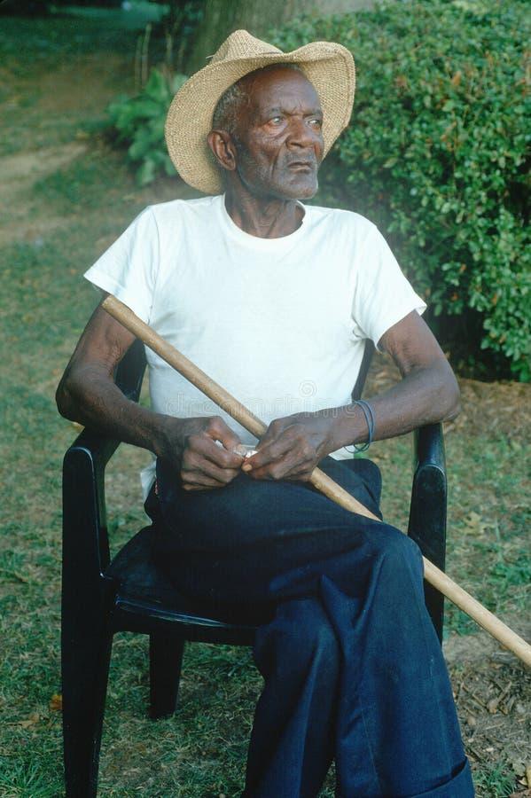 Ein 86 Jahr alter African-Americanmann lizenzfreie stockfotografie