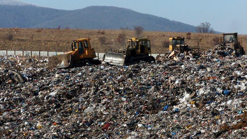 Ein Abschnitt einer Müllgrube gelegen in Sofia, Bulgarien stockbilder