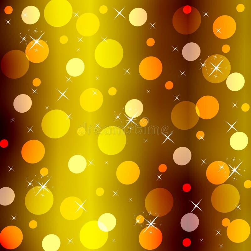 Ein abstrakter Goldhintergrund stock abbildung