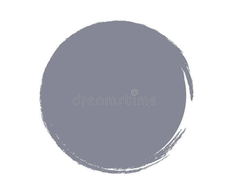 Ein abstrakter Kreis in der grauen Farbe lizenzfreie abbildung