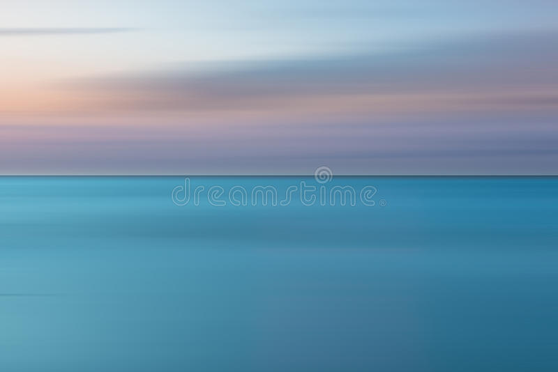 Ein abstrakter Ozeanmeerblick lizenzfreie stockbilder