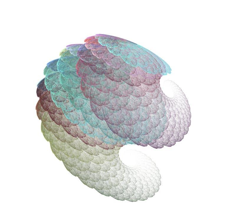 Ein abstraktes computererzeugtes modernes Fractaldesign Abstrakte Fractalfarbbeschaffenheit Tiefrote Rotation Digital-Art Abstrak vektor abbildung