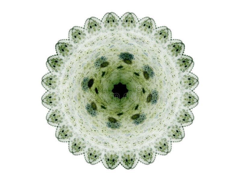 Ein abstraktes computererzeugtes modernes Fractaldesign auf dunklem Hintergrund Abstrakte Fractalfarbbeschaffenheit Tiefrote Rota lizenzfreie abbildung