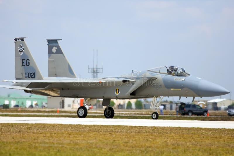 Ein Adlerrollen des Schlag-F-15 lizenzfreies stockfoto