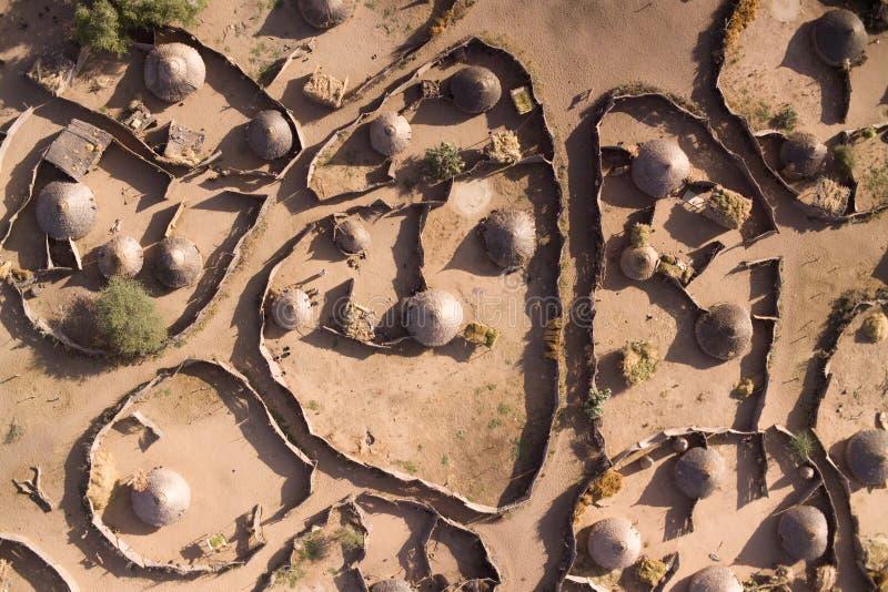 Ein afrikanisches Dorf lizenzfreies stockfoto