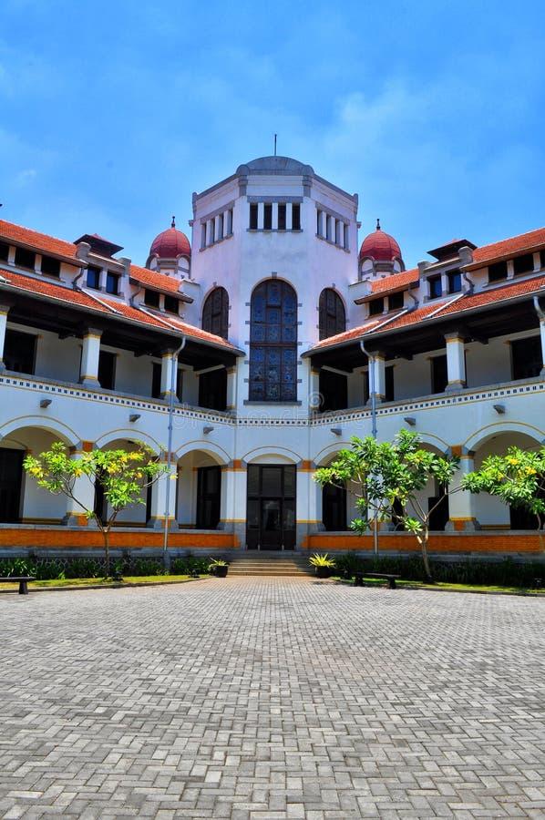 Ein Altbau nannte ` ` LAWANG SEWU, gelegen in Semarang, Jawa Tengah lizenzfreies stockbild