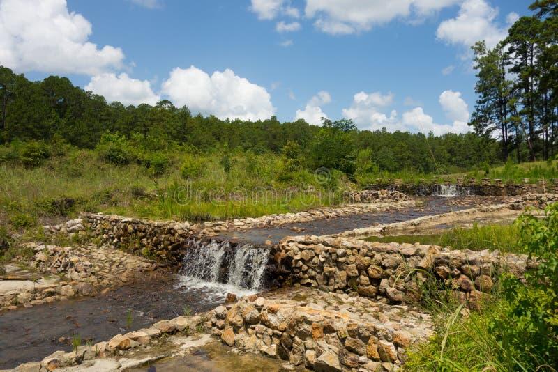 Ein alter, konservierter Mühlkanal in Amerika stockfoto