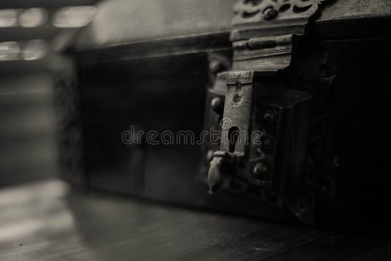 Ein alter Schmuckkasten in Indien stockfotografie
