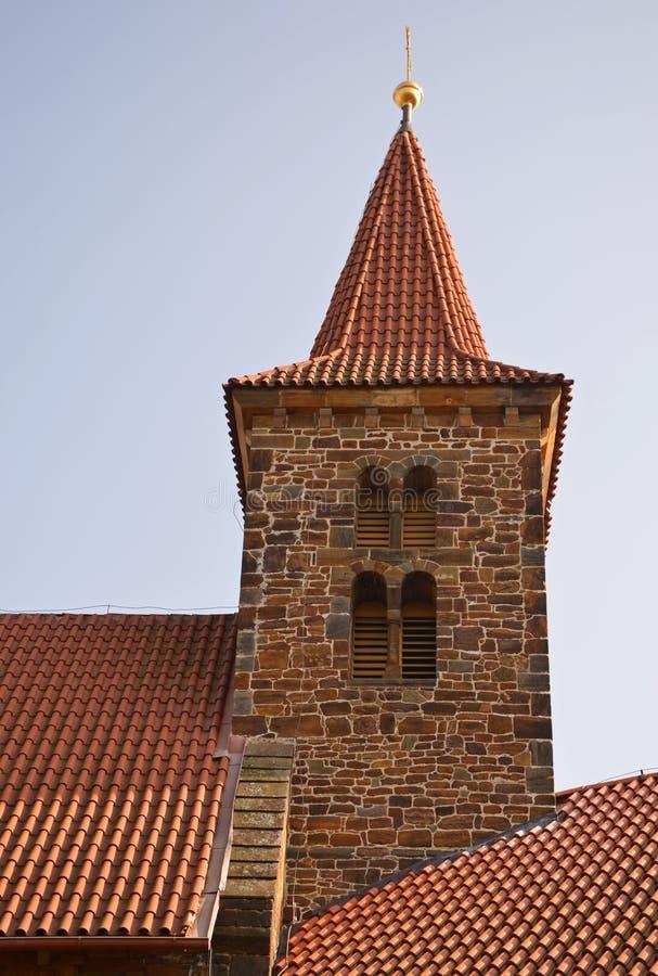 Ein alter Steinturm stockbilder
