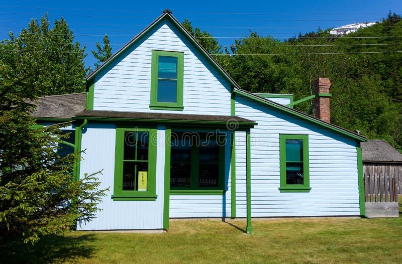 Ein altes Haus an skagway lizenzfreies stockbild