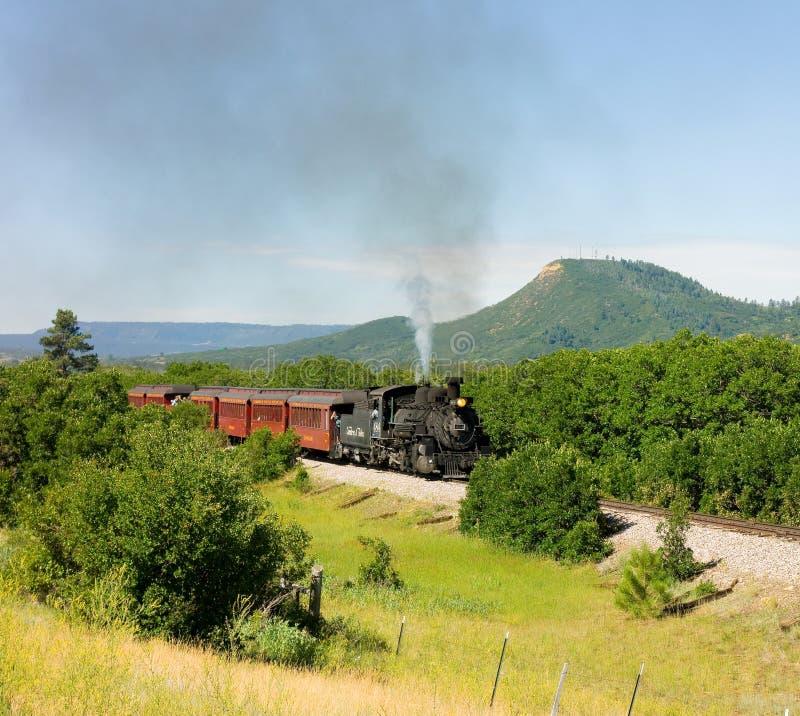 Ein antiker Dampfzug in Colorado stockbild
