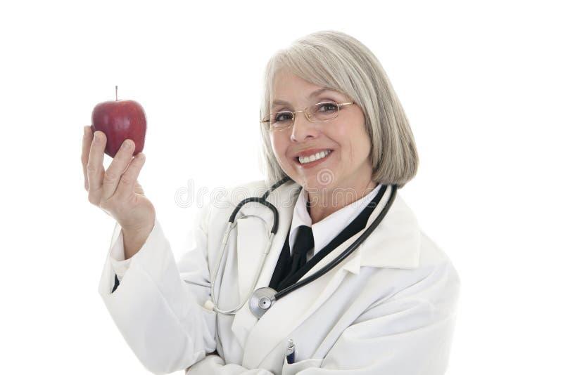 Ein Apfel ein Tag lizenzfreies stockbild