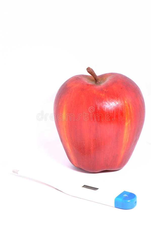 Ein Apple ein Tag?. lizenzfreie stockbilder