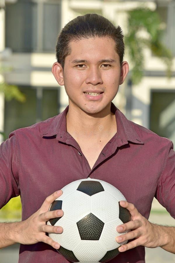 Ein attraktiver männlicher Athlet stockbild