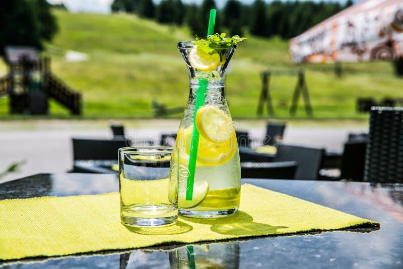 Ein Auffrischungseiskaltes Getränk der sommerzitrusfrucht lizenzfreies stockfoto