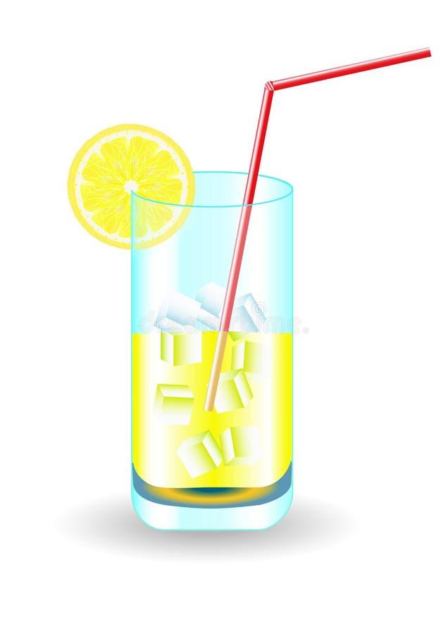 Ein Auffrischungsgetränk mit Eis und Zitrone lizenzfreies stockfoto