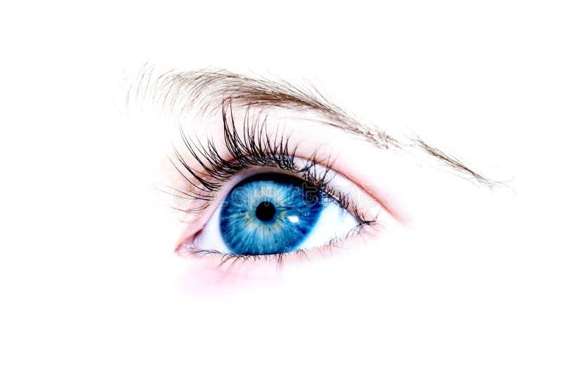 Ein Auge ein jähriges Mädchen stockbild