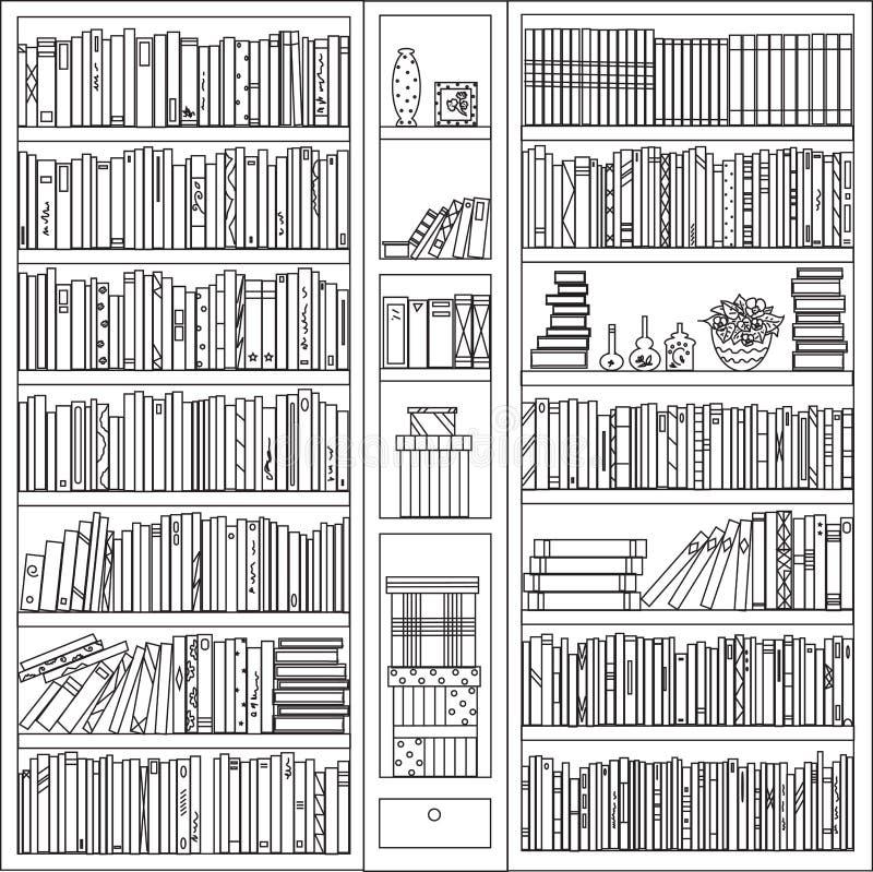 Ein Bücherschrank mit persönlichem Eigentum vektor abbildung