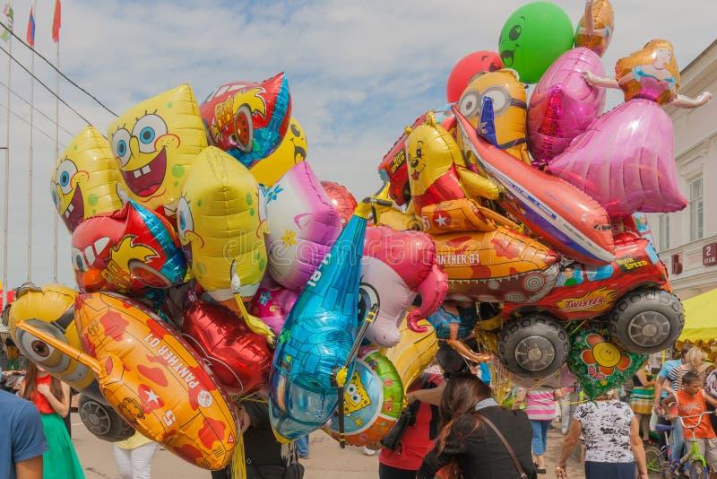 Ein Bündel Ballone lizenzfreie stockfotografie