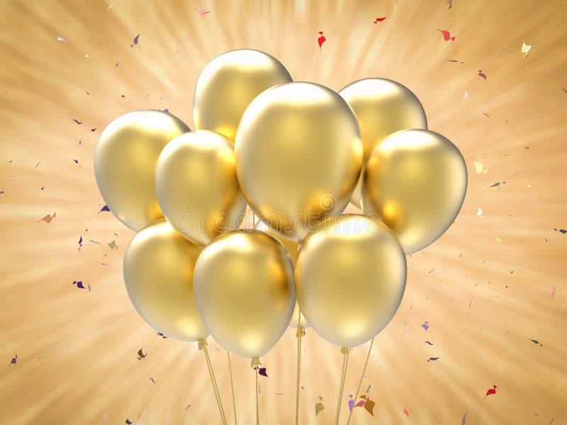 Ein Bündel Ballone lizenzfreie stockbilder