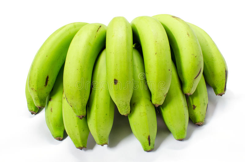 Ein Bündel des grünen Bananenbündels lizenzfreie stockfotos