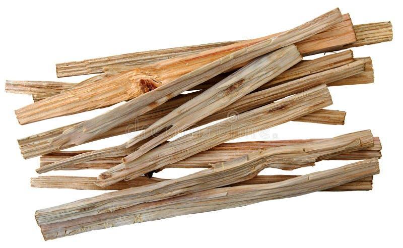 Ein Bündel Holzspäne lizenzfreie stockfotos