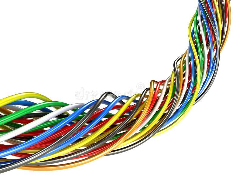 Ein Bündel mehrfarbige elektrische Drähte lizenzfreie abbildung