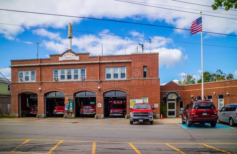 Ein Büro des Feuerschutzes im Stangen-Hafen, Maine lizenzfreie stockbilder