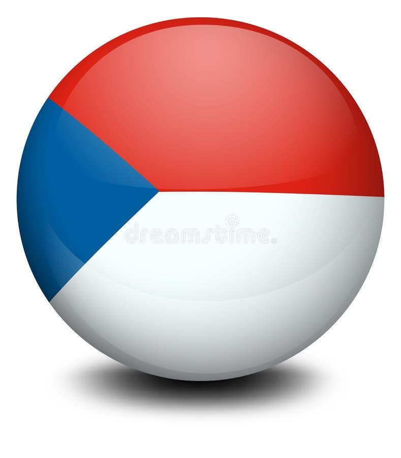 Ein Ball mit der Flagge der Tschechischen Republik stock abbildung