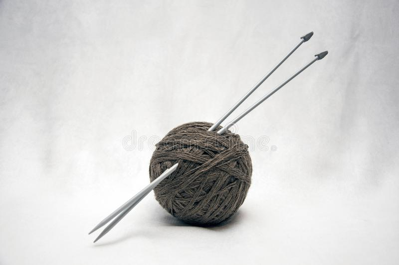 Ein Ball von nito für das Stricken und Teil der handgemachten Arbeit stockbilder
